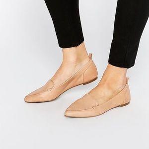 Also Bazovica Nude Leather Flats